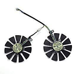 inRobert A Pair Cooling Fan For ASUS Dual series GTX 1070 1060 Graphics Card Cooler (T129215SU)