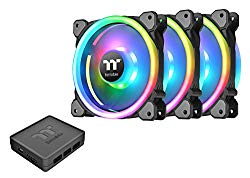 Thermaltake Riing Trio 12 RGB TT Premium Edition 120mm Software Enabled 30 Addressable LED 9 Blades Case/Radiator Fan – 3 Pack – CL-F072-PL12SW-A