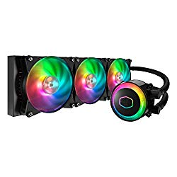 Cooler Master MLX-D36M-A20PC-R1 MasterLiquid ML360R Addressable RGB AIO CPU Liquid Cooler 28 Independently-Controlled LEDs Triple 120mm ARGB Air Balance MF