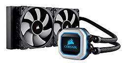 CORSAIR HYDRO Series H100i PRO RGB AIO Liquid CPU Cooler, 240mm, Dual ML120 PWM Fans, Intel 115x/2066, AMD AM4