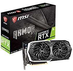 MSI Gaming GeForce RTX 2070 256-bit HDMI/DP/USB Ray Tracing Turing Architecture Graphics Card (RTX 2070 Armor 8G)