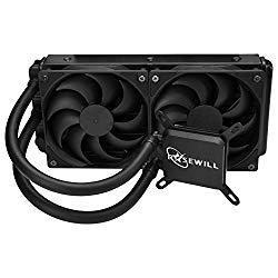 Rosewill CPU Liquid Cooler, Closed Loop PC Water Cooling, Quiet Dual 120mm PWM Fans, Intel LGA 2011/2066/1366/1150/1151/1155/1156/775, AMD AM4/AM3+/AM3/AM2+/AM2/AM1/FM2+/FM1 -PB240