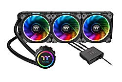 Thermaltake Floe Triple Riing RGB 360 TT Premium Edition PWM TR4 AM4 LGA2066 Ready AIO Liquid Cooling System 360mm High Efficiency Radiator CPU Cooler CL-W158-PL12SW-A