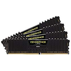 Corsair Vengeance LPX 64GB (4x16GB) DDR4 2666 C16 Desktop Memory Kit for DDR4 Systems