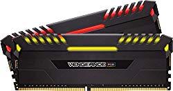 CORSAIR Vengeance RGB 16GB (2x8GB) DDR4 3200MHz C16 Desktop Memory – Black