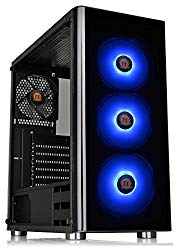 Thermaltake V200 Tempered Glass RGB Edition 12V MB Sync Capable ATX Mid-Tower Chassis with 3 120mm 12V RGB Fan + 1 Black 120mm Rear Fan Pre-Installed CA-1K8-00M1WN-01
