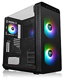 Thermaltake View 37 Motherboard Sync ARGB E-ATX Mid Tower Gaming Computer Case with 3 ARGB 5V Motherboard Sync RGB Fans Pre-Installed CA-1J7-00M1WN-04
