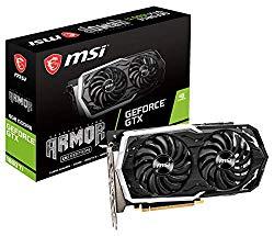 MSI Gaming GeForce GTX 1660 Ti 192-bit HDMI/DP 6GB GDRR6 HDCP Support DirectX 12 Dual Fan VR Ready OC Graphics Card (GTX 1660 TI Armor 6G OC)
