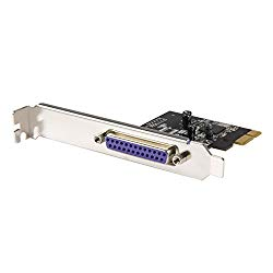 StarTech.com 1 Port PCI Express Dual Profile Parallel Adapter Card – SPP/EPP/ECP – 2x DB25 IEEE 1284 PCIe Parallel Card
