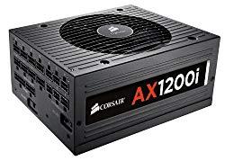 CORSAIR AXi Series, AX1200i, 1200 Watt, 80+ Platinum Certified, Fully Modular – Digital Power Supply