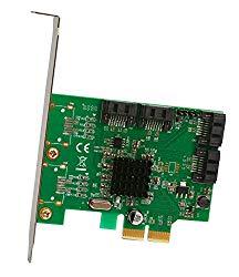 I/O Crest 4 Port SATA III PCI-e 2.0 x2 HyperDuo RAID Hard Drive Controller Card Marvell 9230 Chipset