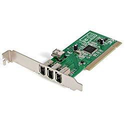 StarTech.com 4 port PCI 1394a FireWire Adapter Card – 3 External 1 Internal