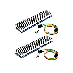 Onyehn 2pcs/Lots MAX7219 Dot Matrix Module 4 in 1 Display for Arduino Microcontroller with 5Pin Line