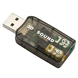 USB Audio Sound Adapter for PS3, PS4, Windows, Mac, Raspberry Pi and Linux. to be Used with External Headphone and Microphone