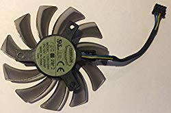 75mm Video Card Fan Replacement for nVidia/ATI/AMD Video Cards (Mounting Hole distance 40mm, 4-pin power line)