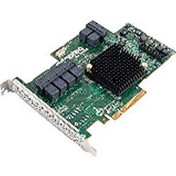 Adaptec 2274900-R 72405 24-Ports SAS/SATA RAID Controller – PCI Express 3.0 x8 – Plug-in Card – RAID Supported – 0, 1, 1E, 5, 6, 10, 50, 60 RAID Level – 6 Total SAS Port(s) – 6 SAS Port(s) Internal