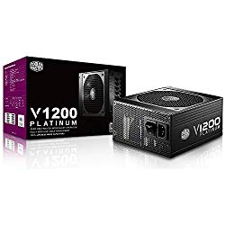 Cooler Master V1200, Full Modular 80+ Platinum Certified 1200W Power Supply with Hybrid Fan Mode, 7 Year Warranty