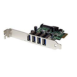 StarTech.com 4 Port PCI Express PCIe SuperSpeed USB 3.0 Controller Card Adapter with UASP – SATA Power – USB 3 PCIe Card (PEXUSB3S4V)
