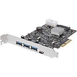 StarTech.com USB 3.1 PCIe Card – 3X USB-A and 1x USB-C – 2X Dedicated Channels – USB C PCIe Card – USB 3.1 Controller Card (PEXUS313AC2V)