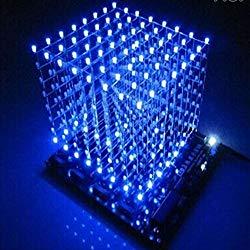 Gikfun 3D LightSquared DIY Kit 8x8x8 3mm LED Cube White LED Blue Ray EK1568
