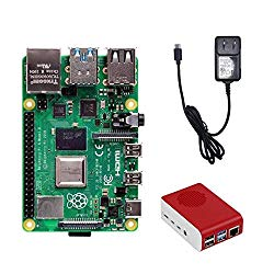 MarsKit Raspberry Pi 4 2GB Basic Kit with 5.1V 3A USB-C Power Supply and Raspberry Pi 4 case(Micro SD card not incl.)