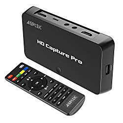 MYPIN 1080P HD Schedule Recording Video Capture,Live Streaming Video Game Capture Compatible with Nintendo Switch PS4 and PS3, Xbox one,N64, Blu-Ray via HDMI, Ypbpr, Composite Input with Remote