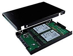 SATA III to mSATA SSD x 2 RAID Card with 2.5 Inch 9.5 MM Drive Housing