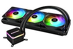 Enermax Liqmax III 360 – Triple Fan aRGB – Dual Chamber AIO CPU Liquid Cooler – Intel/AMD AM4 Support – 300W+ TDP Cooling; ELC-LMT360-ARGB