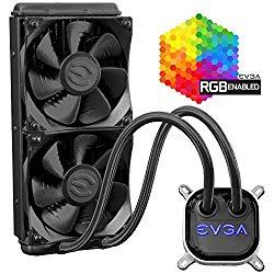 EVGA CLC 280mm All-In-One RGB LED CPU Liquid Cooler, 2x FX13 140mm PWM Fans, Intel, AMD, 5 YR Warranty, 400-HY-CL28-V1