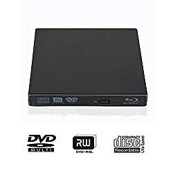 External Blu-ray DVD CD Drive USB 2.0 3D Blu-Ray Player Portable CD/DVD-ROM Burner BD-ROM for PC Compute Desktop Notebookr (Black)