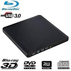 External Bluray DVD Drive, Guamar USB 3.0 and Type-C Blu-Ray DVD Burner 3D Slim Optical Bluray CD DVD Drive Compatible with Windows XP/7/8/10, MacOS, Linux for MacBook, Laptop, Desktop
