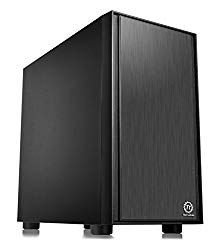 Thermaltake Versa H17 Black Micro ATX Mini Tower Gaming Computer Case 2.0 Edition with One 120mm Rear Fan Pre-Installed CA-1J1-00S1NN-A0