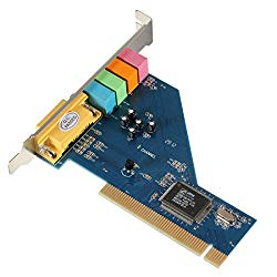 Alician 4 Channel 8738 Chip 3D Audio Stereo PCI Sound Card for Win7 64 Bit