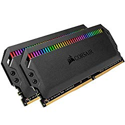Corsair Dominator Platinum RGB 32GB (2x16GB) DDR4 3200 (PC4-25600) C16 1.35V Desktop Memory