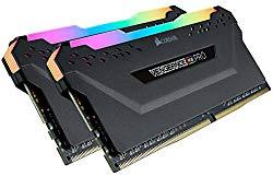 Corsair Vengeance RGB Pro 32GB (2x16GB) DDR4 3200 (PC4-25600) C16 AMD Optimized Memory – Black