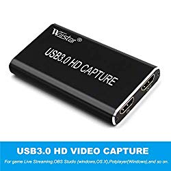 HDMI to USB 3.0 Video Capture USB C Video Card with HDMI Loop Out, Broadcast Live Stream and Record, Full HD 1080P Live Streaming Video Game Grabber Converter