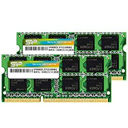 Silicon Power 16GB (2 x 8GB) Compatible for Apple DDR3L RAM 1600MHz (PC3 12800) 204 pin CL11 1.35V Non ECC Unbuffered SODIMM Laptop Memory Module – Low Voltage