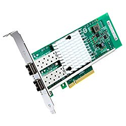 10Gb PCI-E Network Card X520-DA2, Dual SFP+ Ports for Intel 82599ES Chipest, 10G PCI Express NIC Support Windows Server, Win 7/8/10/Visa, Linux, VMware