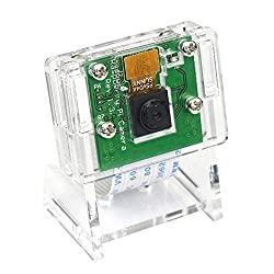 5MP 1080P Video Camera Module for Raspberry Pi 4 Model B, Pi 3 b+, Pi Zero W Camera with Case Flex Cable (Camera + Holder)