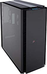 CORSAIR OBSIDIAN 1000D Super-Tower Case, Smoked Tempered Glass, Aluminum Trim – Integrated COMMANDER PRO fan and lighting controller (CC-9011148-WW)