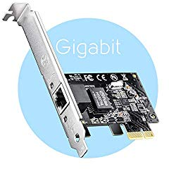 Cudy PE10 10/100/1000Mbps Gigabit Ethernet PCI Express, PCIE Network Adapter/Network Card/Ethernet Card for PC, with Low Profile Bracket, Free Driver on Windows 10/8.1/8