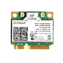 MQUPIN Dual Band Wirless – Intel 7260.HMW Dual Band Wireless-AC 7260 Network Adapter+Bluetooth 4.0 USE for Intel AC Half Mini Pcie Card 802.11 b/a/g/n/ac