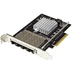 StarTech.com 10G SFP+ Network Card – 4 Port Nic Card – Intel XL710 Chip – PCIe Server/Desktop Network Card – 10 Gigabit Ethernet Card (PEX10GSFP4I)