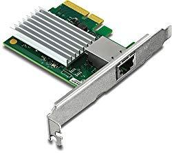TRENDnet 10 Gigabit PCIe Network Adapter, Supports 802.1Q Vlan, Standard and Low-Profile Brackets, Windows, Server, Linux, Nbase-T, TEG-10GECTX